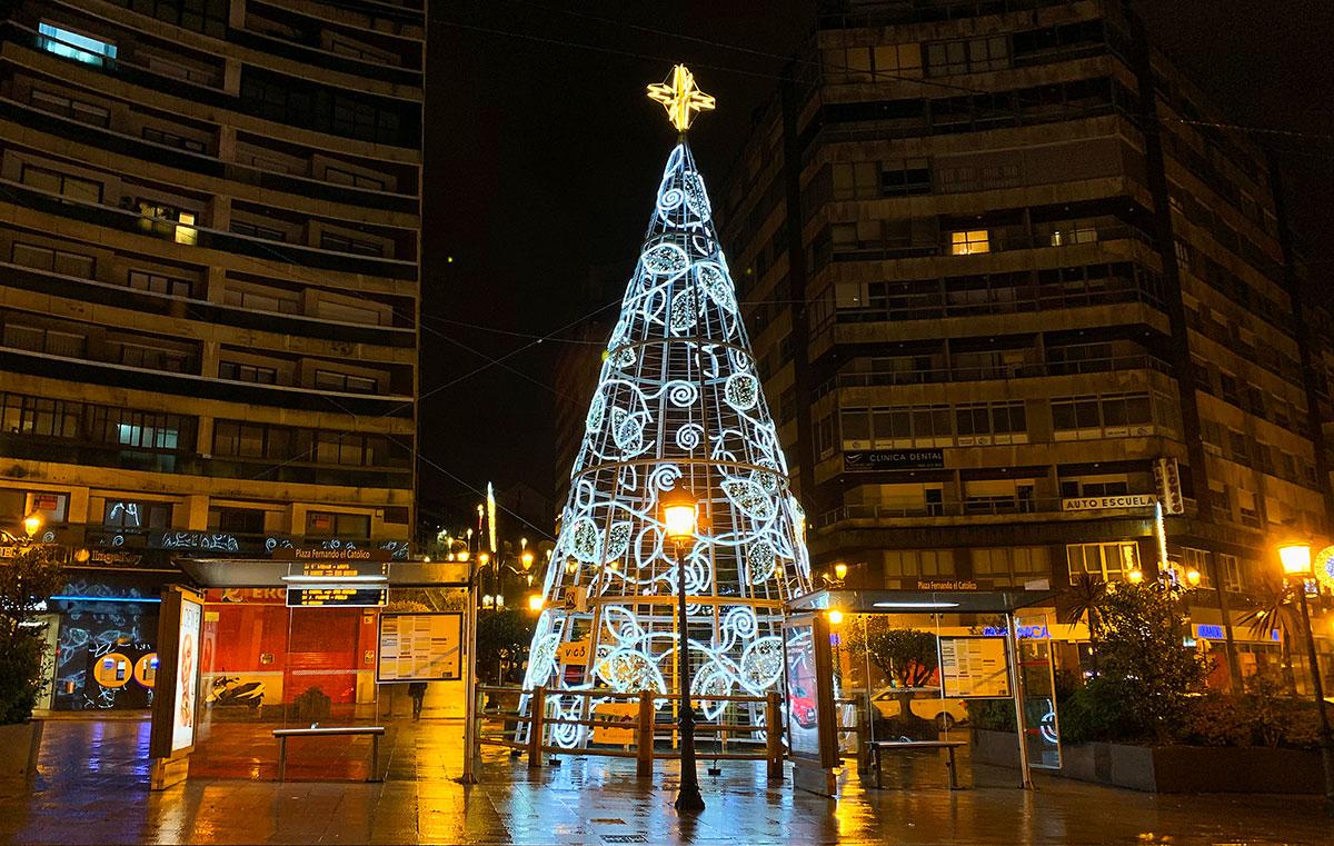 árbol de navidad de luces led Vigo