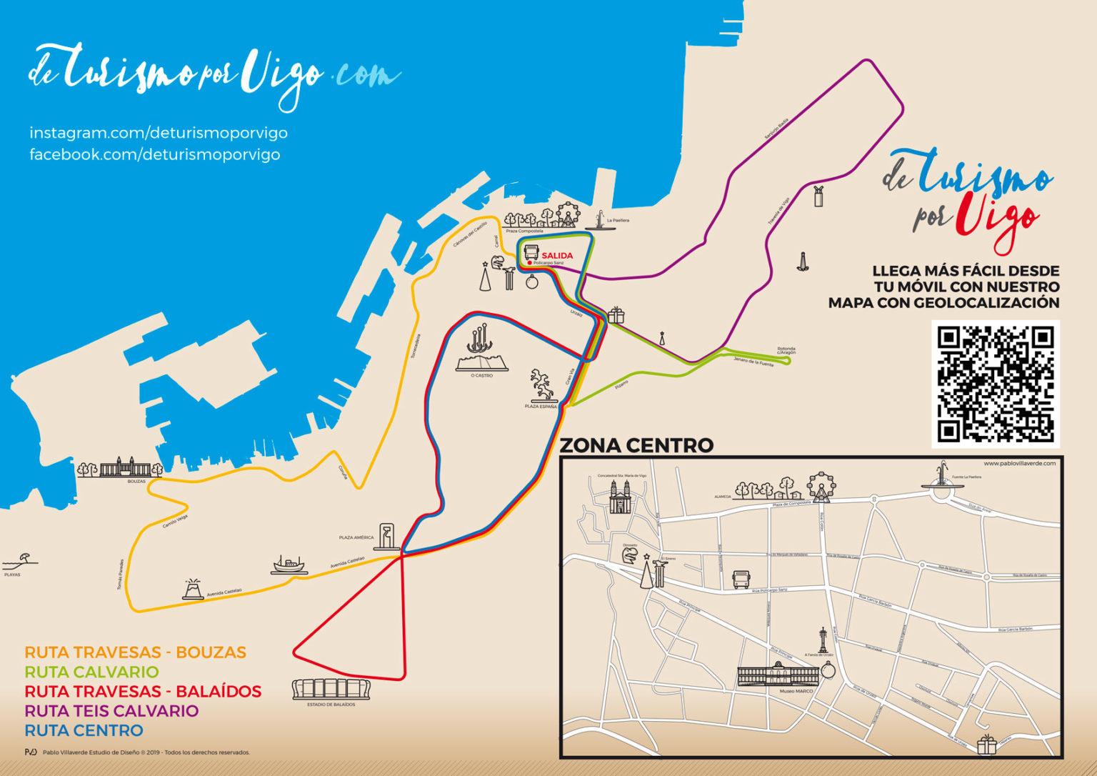 Mapa Rutas NadalBus Vigo